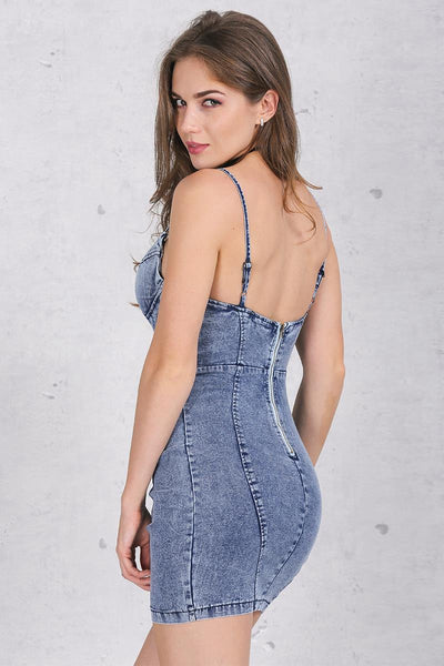 Dress – Denim Sheath Mini Dress | Zorket