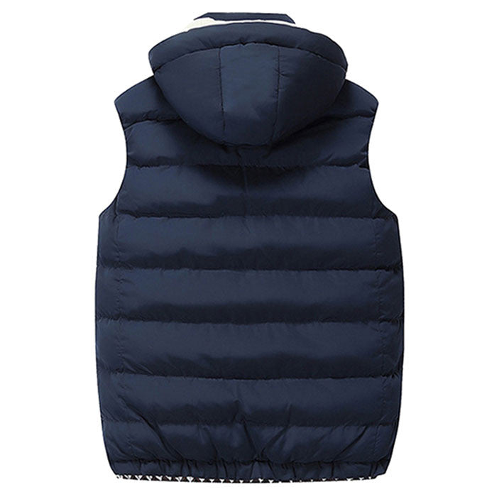 Stylish Casual Warm Men's Vest With Collar - Zorket