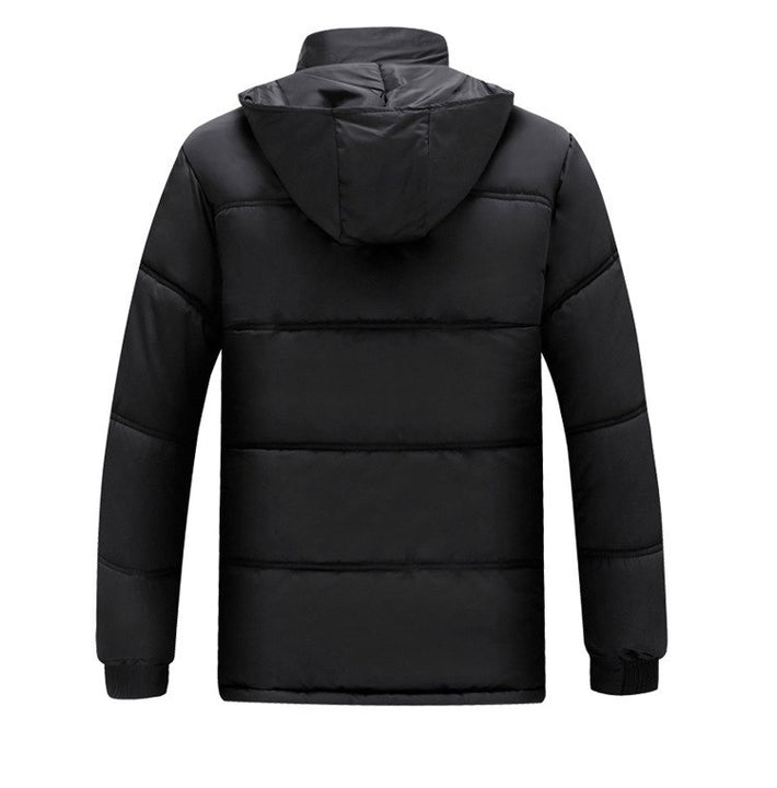 Men's Winter Warm Windproof Multi-Pocket Down Coat With Fur Lining
