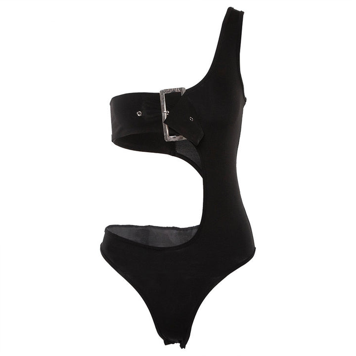 Women's Summer Backless Hollow Out Strapless Bodysuit