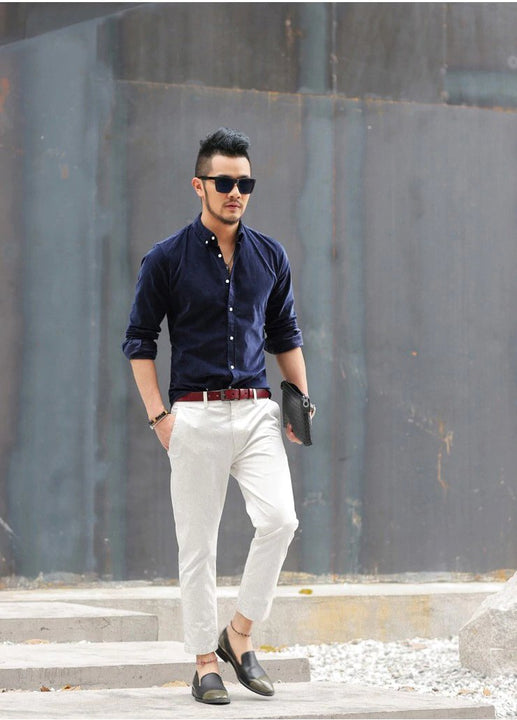 Men's Autumn Casual Slim Straight Business Pants