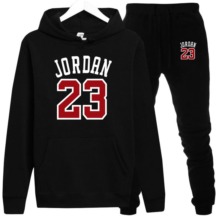 "Men's Autumn Hooded Tracksuit With Printed ""JORDAN 23"""