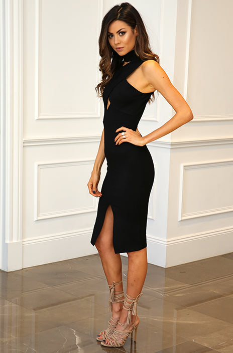 Dress – Elegant Sleeveless Dress With Slit | Zorket