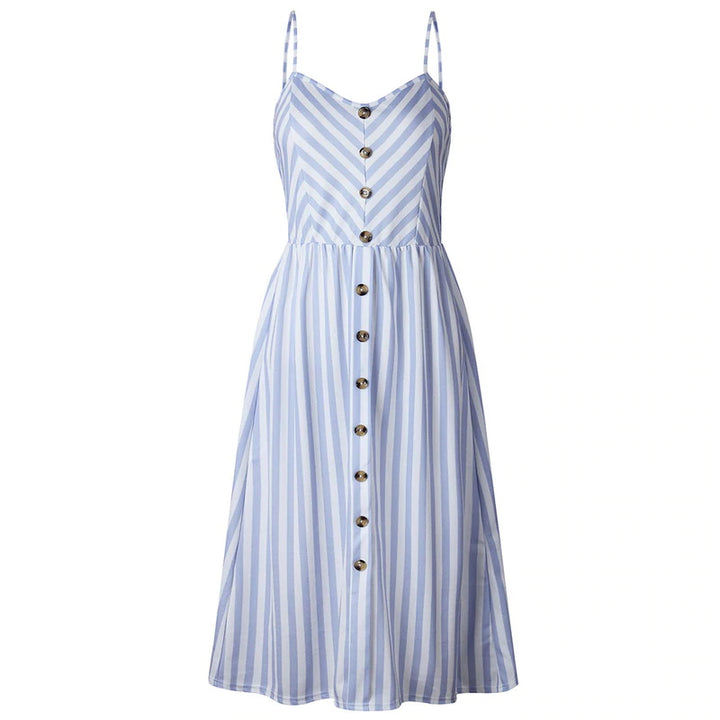 Women's Summer Coloured Dress In Stripe