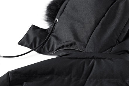 Men's Winter Casual  Thick Cotton-Padded Hooded Long Parka