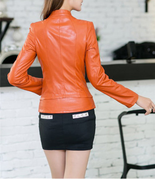 Jacket – Women's Autumn Fashion PU Leather Jacket | Zorket