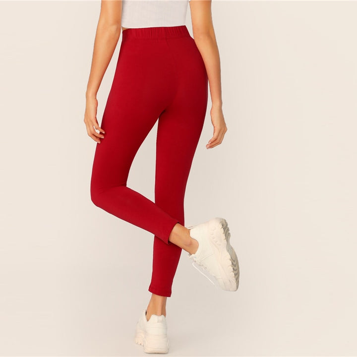 Women's Autumn Elastic-Waist Leggings