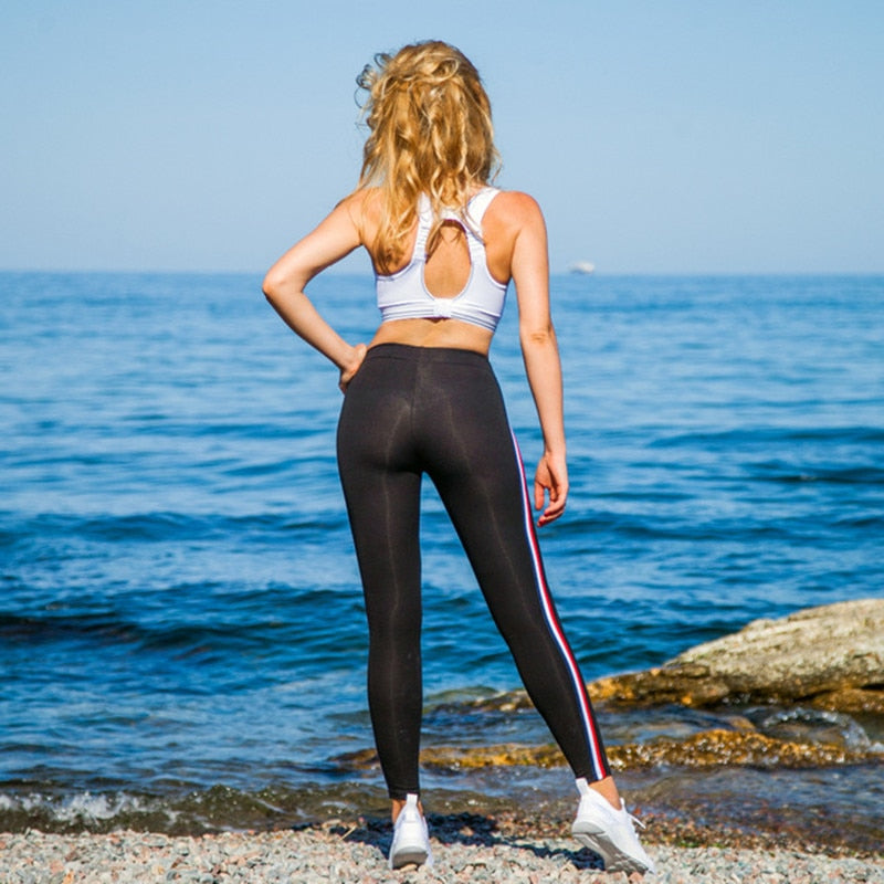 Women's Cotton Casual Plus Size High Waist Fitness Leggings