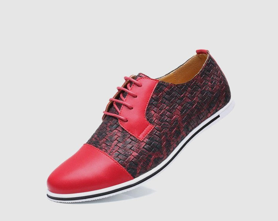 Men's Autumn Breathable PU Leather Flat Shoes
