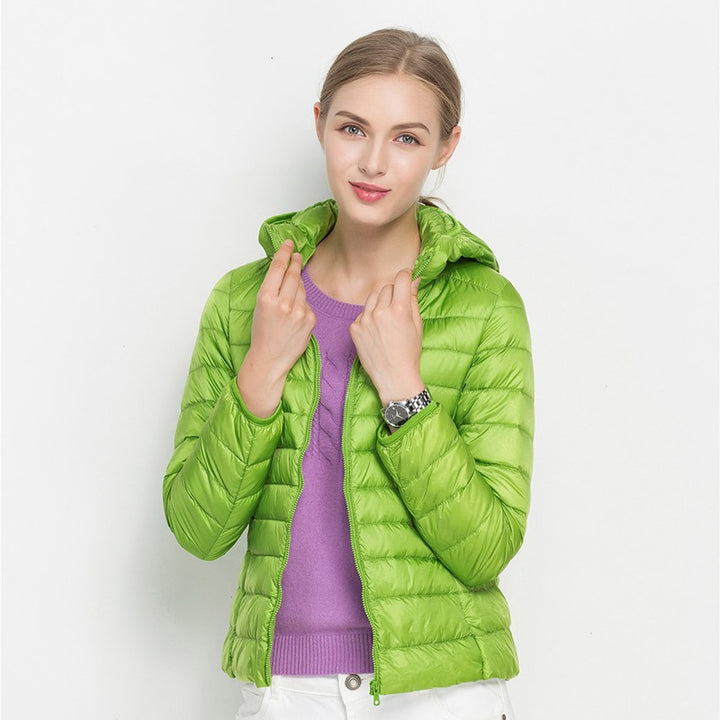 Women's Spring/Autumn Slim Fit Hooded Ultra Light Jacket