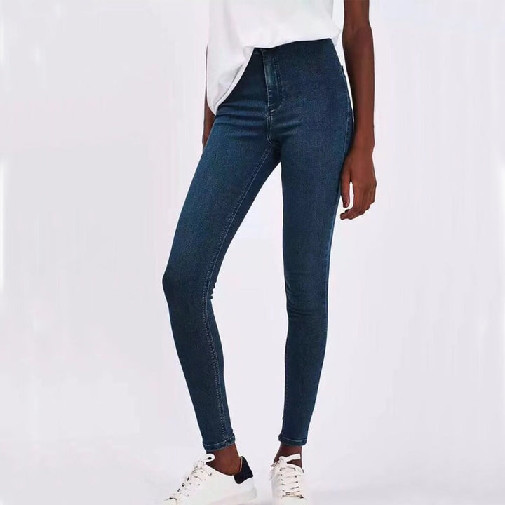Women's Spring/Autumn High Waist Elastic Stretch Skinny Jeans