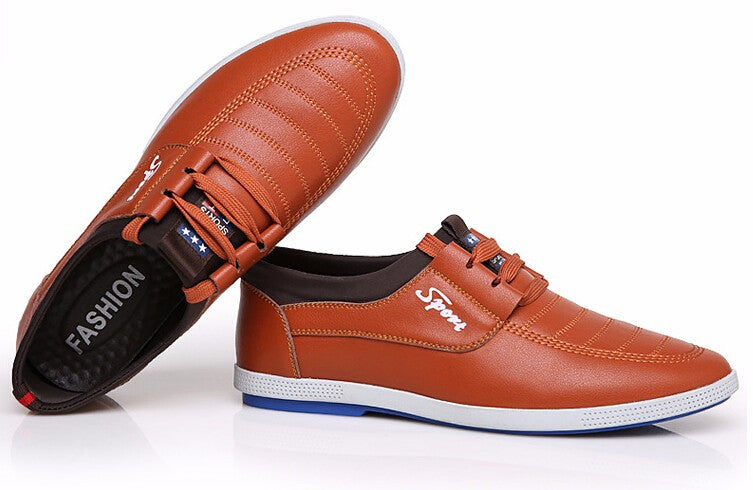 Men's Solid Color Stylish Shoes - Zorket