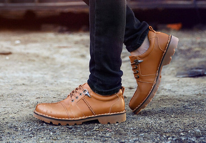 Spring And Autumn Men's Comfortable Boots On Platform - Zorket