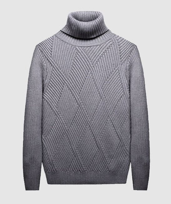 Men's Autumn/Winter Warm Soft Knitted Turtleneck Pullover