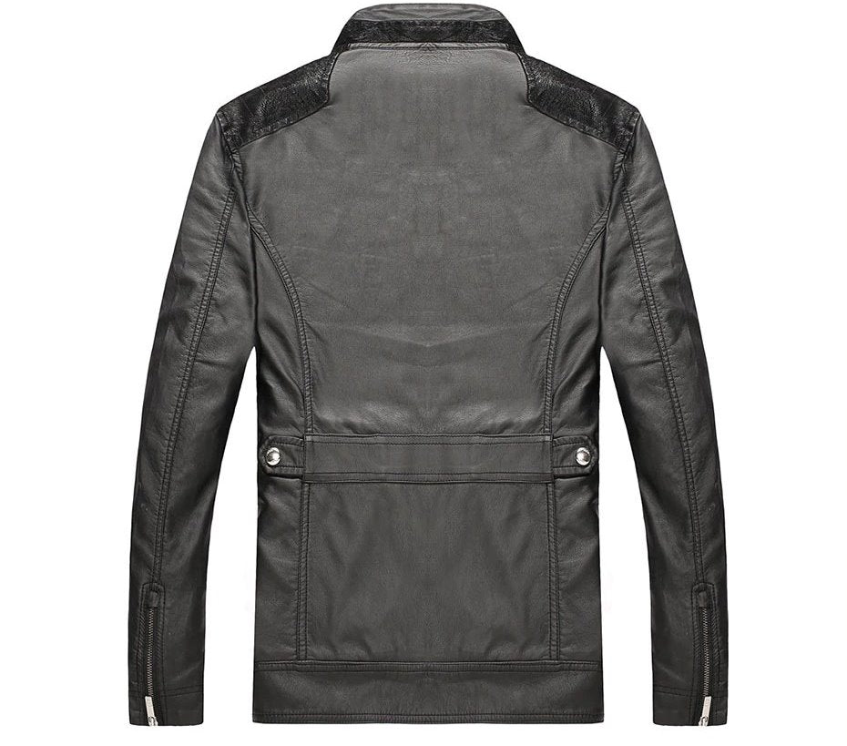 Men's Spring/Autumn PU Leather Designer Jacket Made By 3D-Cutting Technology