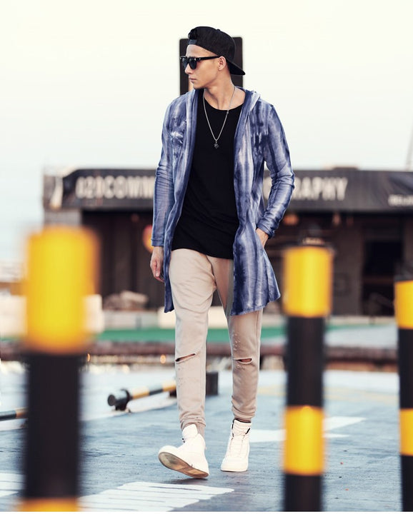 Men's Autumn Casual Thick Warm Long Hooded Cardigan