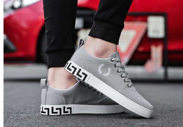 Men's Spring/Autumn Canvas Lace-Up Flats | Men's Sneakers