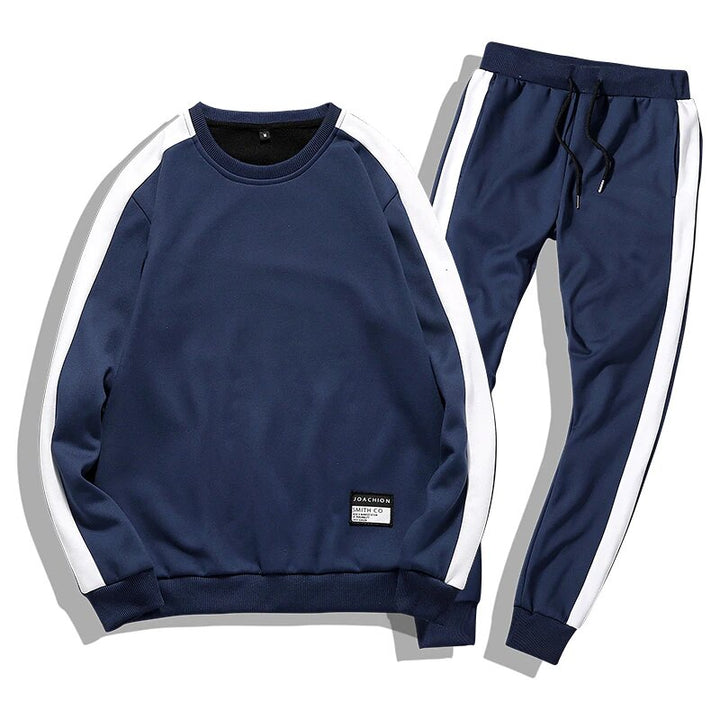Men's Autumn/Winter Warm Tracksuit With Fleece Lining