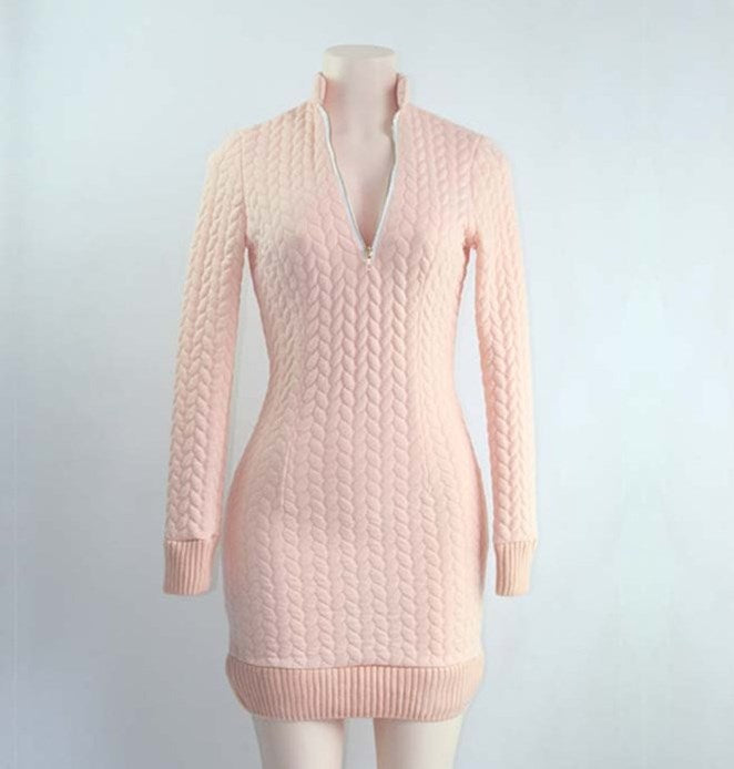 Women's Autumn/Winter Soft Knitted Sheath Sweater Dress