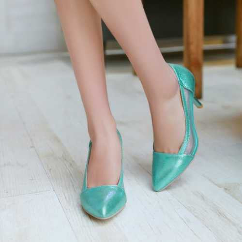 Stylish Summer Ponted Close Toe Pumps - Zorket