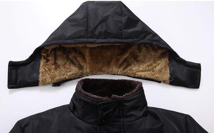 Men's Winter Cotton-Down Thick Hooded Parka