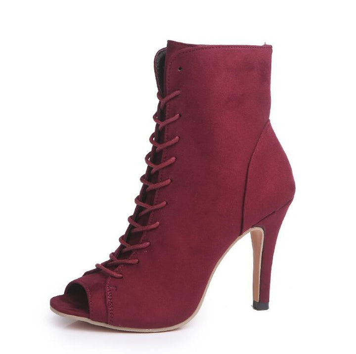 Women's Spring/Autumn Peep-Toe High-Heeled Shoes