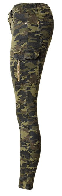 Women's Autumn/Winter High Waist Camouflage Army Pants