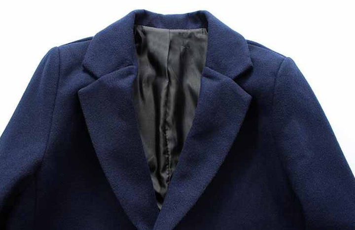 Men's Stylish Turn-Down Collar Warm Autumn / Winter Long Coat - Zorket