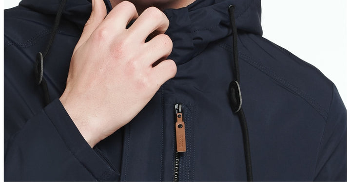 Men's Spring/Autumn Casual Thin Cotton Hooded Jacket