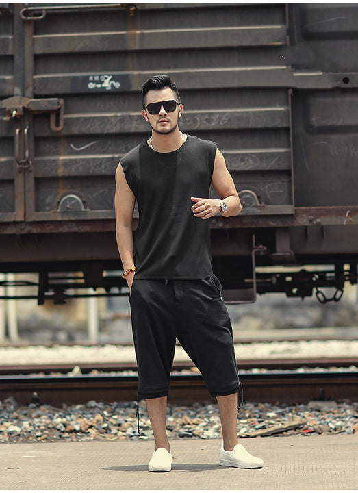 Men's Summer Slim Quick Dry Knitted European Style Tank Top