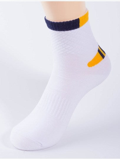 Men's Autumn Cotton Elastic Breathable Socks | 5 Pairs Socks