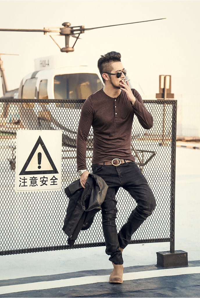 Men's Casual Long Sleeve T-Shirt