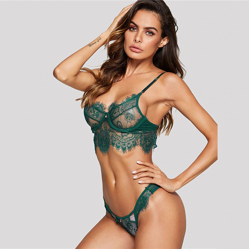 Women's Summer Transparent Lace Lingerie Set | Ladies Bra&Brief Set