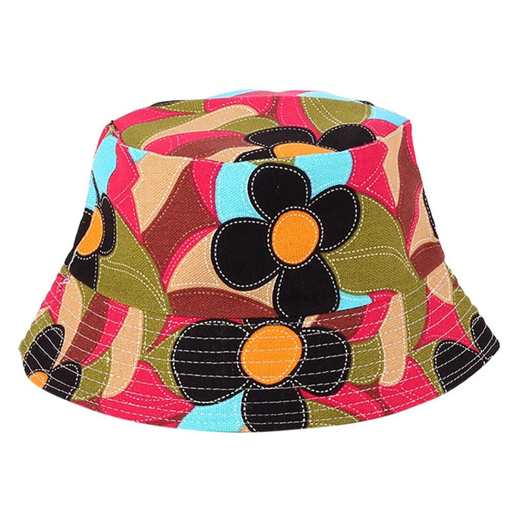 Women's Summer Bucket Hat With Flower Print