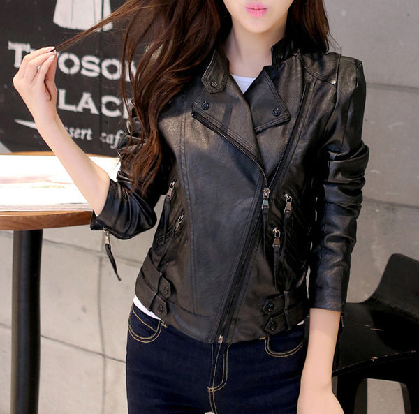 Jacket – Autumn Women's Slim PU Leather Jacket | Zorket