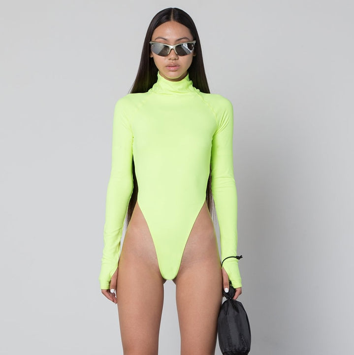 Women's Autumn Turtleneck Long-Sleeved Bodysuit