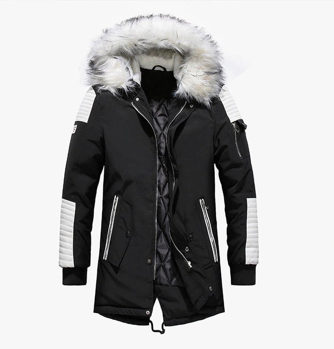 Men's Winter Casual Warm Thick Hooded Long Parka