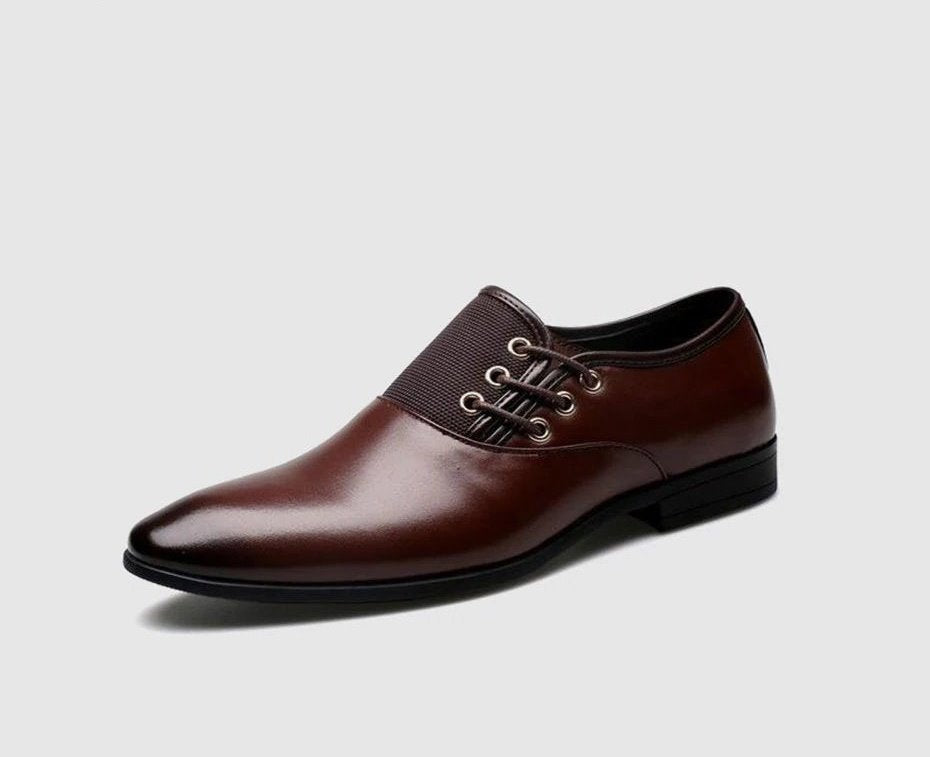 Men's Spring/Autumn Point Toe Genuine Leather Classic Oxfords