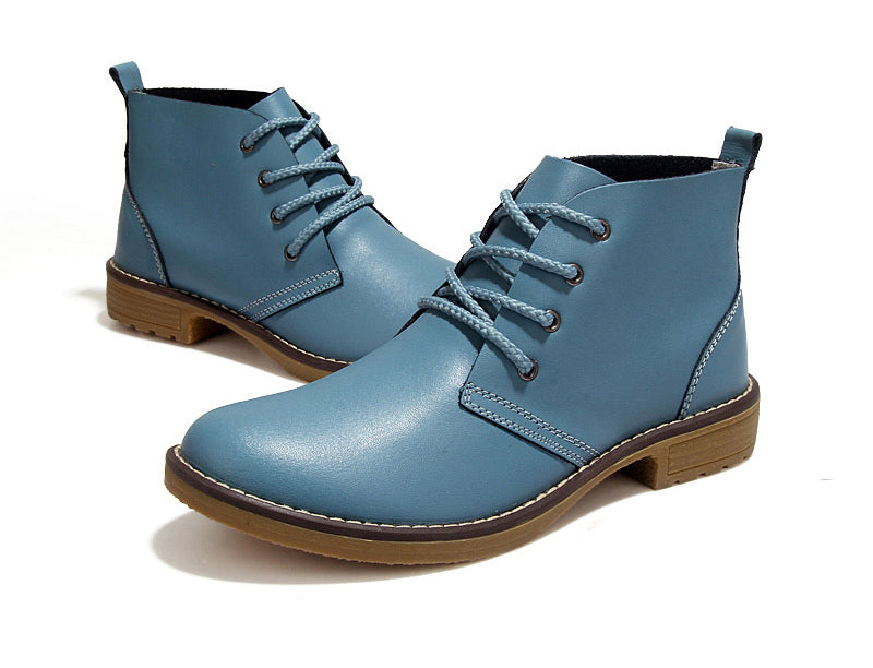 Women's Autumn Genuine Leather Ankle Boots