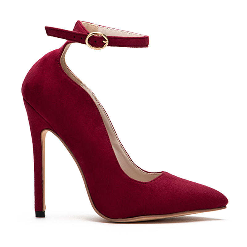 Women's Spring/Autumn Curve High-Heeled Pumps With Buckles