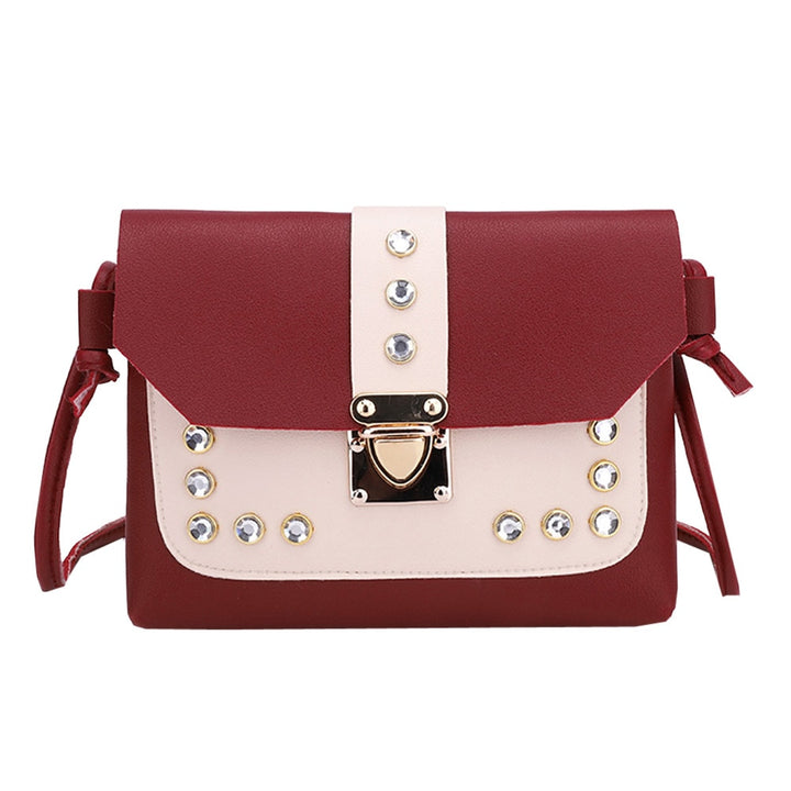 Women's Summer Shoulder Crossbody Bag Decorated With Rhinestones