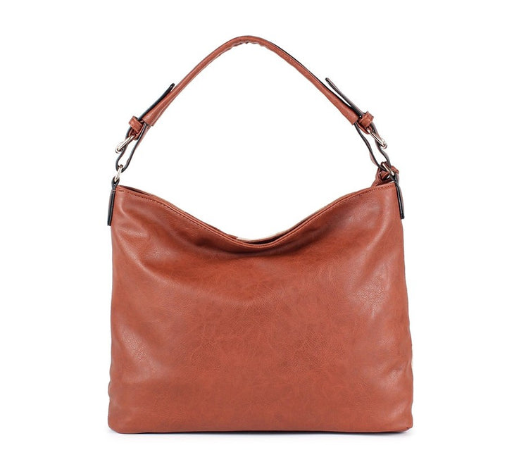 Women's Autumn Patchwork PU Leather Tote Handbag