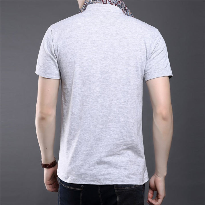 Men's 100% Cotton Slim Fit Short Sleeve T-Shirt - Zorket