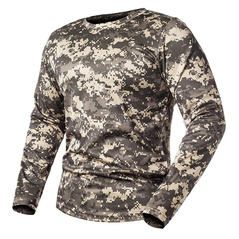 Men's Spring Tactical Long Sleeve O-Neck T-Shirt