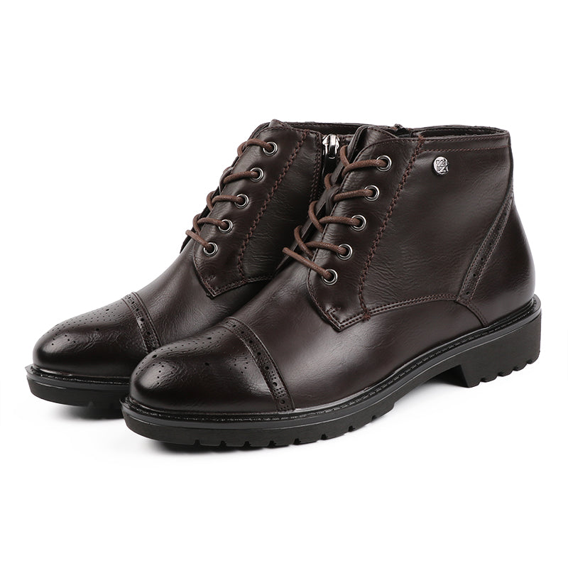 latest fashion styles factory authentic Women's Leather Lace-Up Ankle Boots