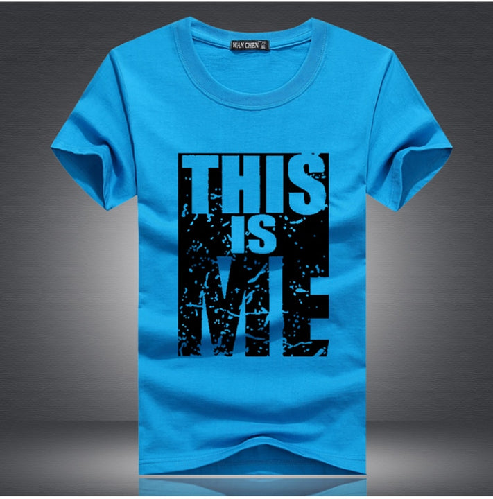 "Men's Summer T-Shirt With ""This Is Me"" Printing"