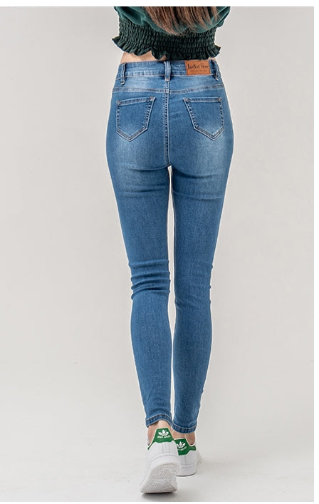 Women's Spring/Autumn High Waist Skinny Jeans