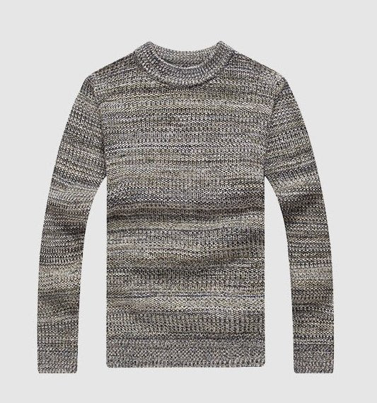 Men's Winter Knitted Cotton Christmas Style Pullover