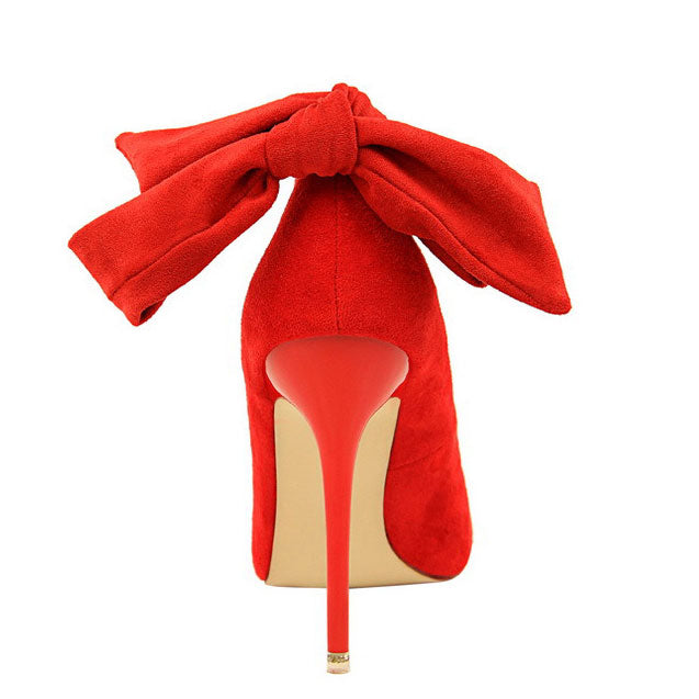 Women's Spring/Autumn Basic Ankle Strap High-Heeled Flock Pumps