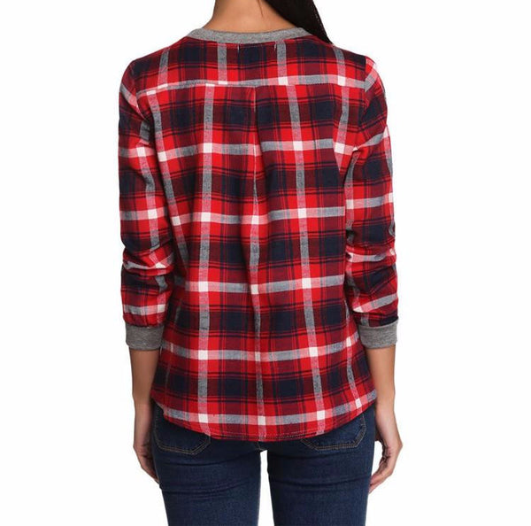 Hoodies & Sweatshirts – Fashionable Female Plaid Casual Sweatshirt | Zorket